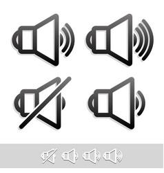 eps 10 speaker symbol set vector image