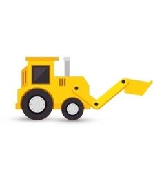 Excavator toy isolated icon vector