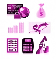 Finance design elements vector