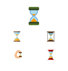 Flat icon hourglass set of instrument hourglass vector