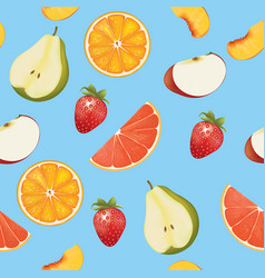 fruits background seamless pattern vector image