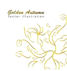 Golden autumn branches vector image