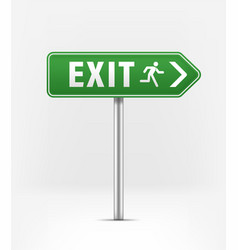 Green exit ponter exit to right vector