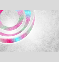 Grey and holographic grunge neon background vector