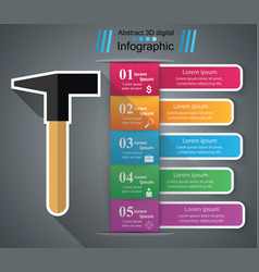 hammer infographics origami style vector image