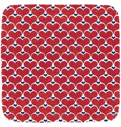 hearts symbols ornament background vector image