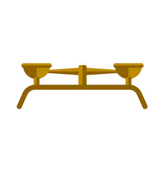 isolated golden balance icon vector image