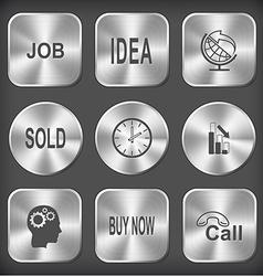 Job idea globe and arrow sold clock graph degress vector