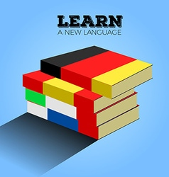 Learn language vector image