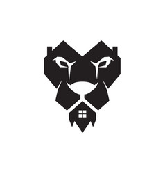 lion home real estate logo designs simple vector image