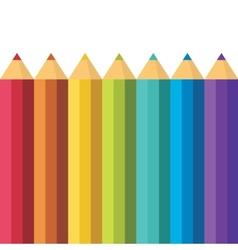 Lots of colored pencils vector