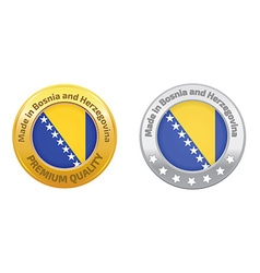 Made in Bosnia and Herzegovina logo vector image