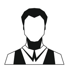 man silhouette avatar on white background vector image
