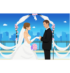 Married young couple vector