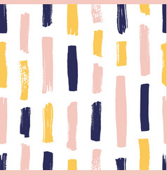Modern seamless pattern with yellow pink blue vector