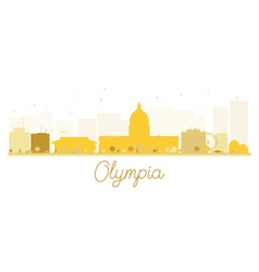 Olympia City skyline golden silhouette vector