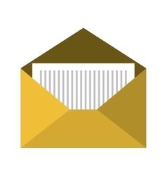 Open yellow envelope vector