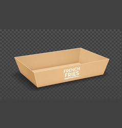Paper tray packaging brown box vector