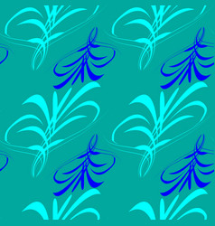 pattern from blue and blue lines and hieroglyphs vector image