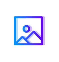 picture blue purple gradient icon image symbol vector image