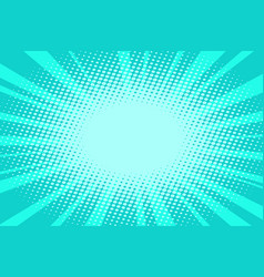 pop art turquoise background vector image