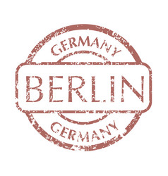 postal stamp from berlin vector image