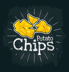 Potato chips flat vector