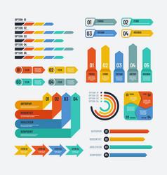 Presentation infographics flowchart timeline vector