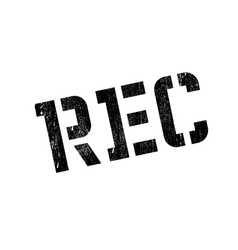 Rec rubber stamp vector