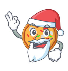 santa pizza mascot cartoon style vector image