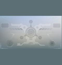 Sci-fi futuristic glowing hud display vitrual vector