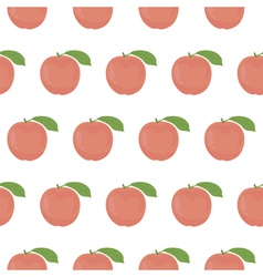 Seamless pattern with peaches vector image