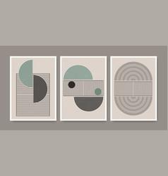 Set abstract creative minimalist modern mid vector