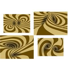 Set of spiral background vector