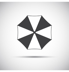 Simple grey beach umbrella icon vector image