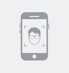 smartphone take a portrait photo vector image