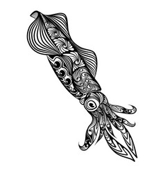 squid with big eye and beautiful vector image