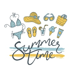 Summer time pattern vector image