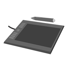Tablet for drawing cartoon icon vector