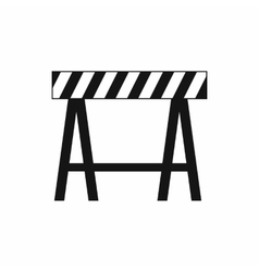 Traffic barrier icon simple style vector image