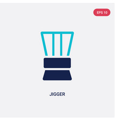 two color jigger icon from drinks concept vector image