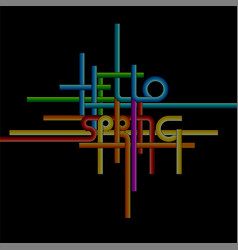 Typography background phrase hello spring vector
