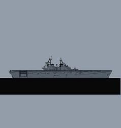 Us navy wasp class amphibious assault ship vector