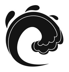 wave water tsunami icon simple black style vector image