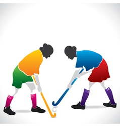 women hockey player vector image