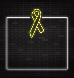 yellow cancer awareness symbol in realistic style vector image