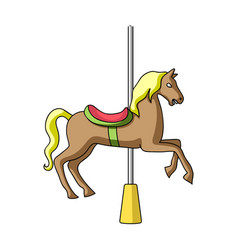 carousel for children horse on the pole for vector image vector image