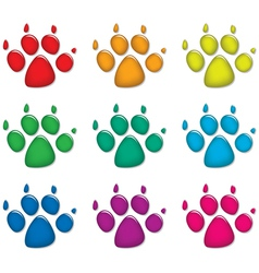 dog foot prints vector image vector image