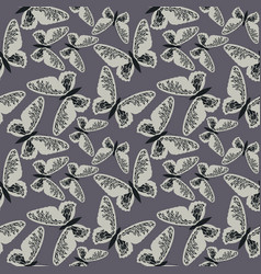 elegant seamless pattern with cute butterflies on vector image vector image