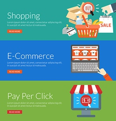 Flat design concept for shopping e-commerce and vector image vector image
